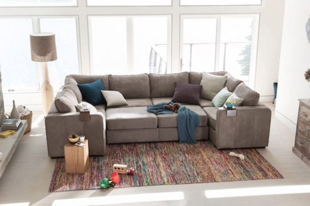 Functional Guest and Comfortable Sleeping arrangements on the LoveSac Sactional sofa 8 Seats + 10 Sides