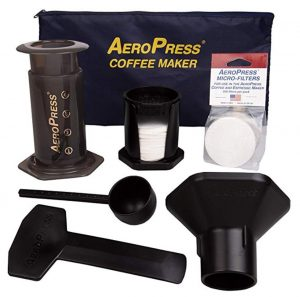 aeropress coffee maker and accessories