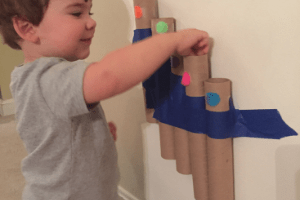 Play Plan: Cardboard Tube Toddler Activity