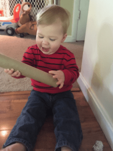 Cardboard Tube toddler activity fun