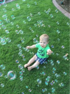 baby bubble activity outdoor fun