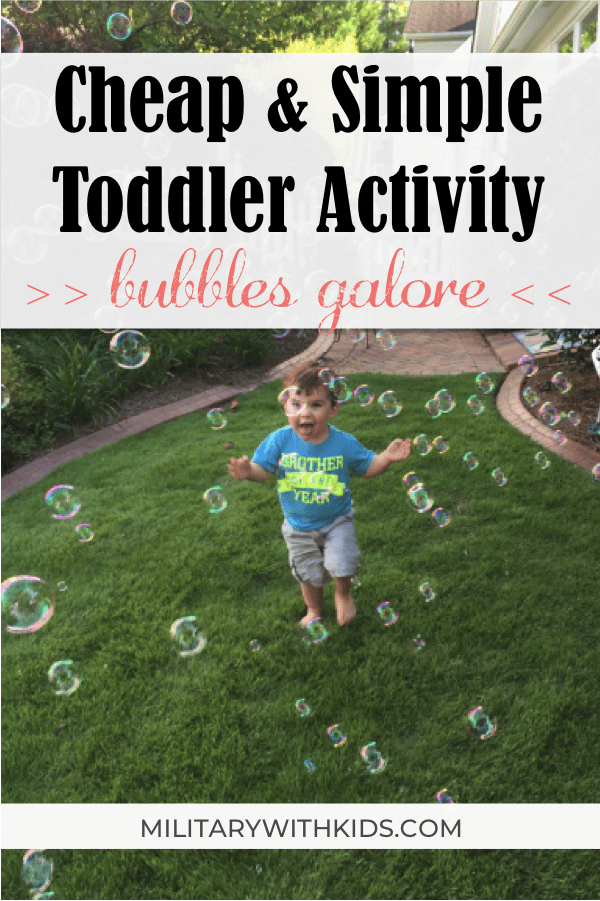 cheap simple bubbles toddler activity