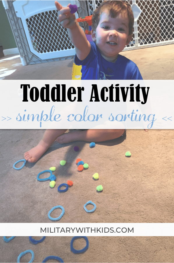 cheap indoor toddler activity color sorting