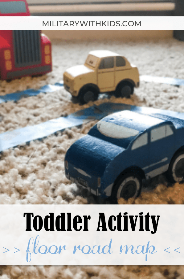 Indoor toddler activity simple road map