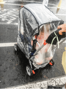 Stroller Rain Cover makes Disney World fun in the rain