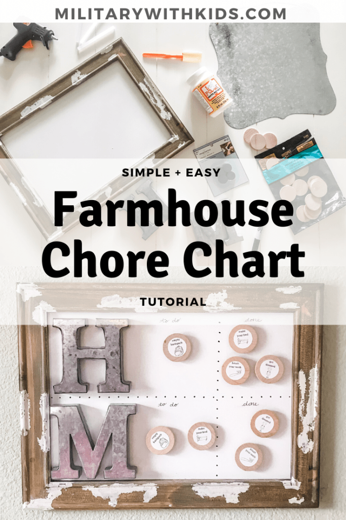Simple Easy Farmhouse Chore Chart DIY Tutorial