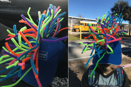 100th day of school simple cheap easy craft hat diy