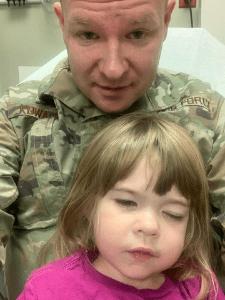 Air Force dad military kid cancer San Antonio ERMS
