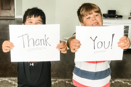 Kids thank you photo collage teacher gift