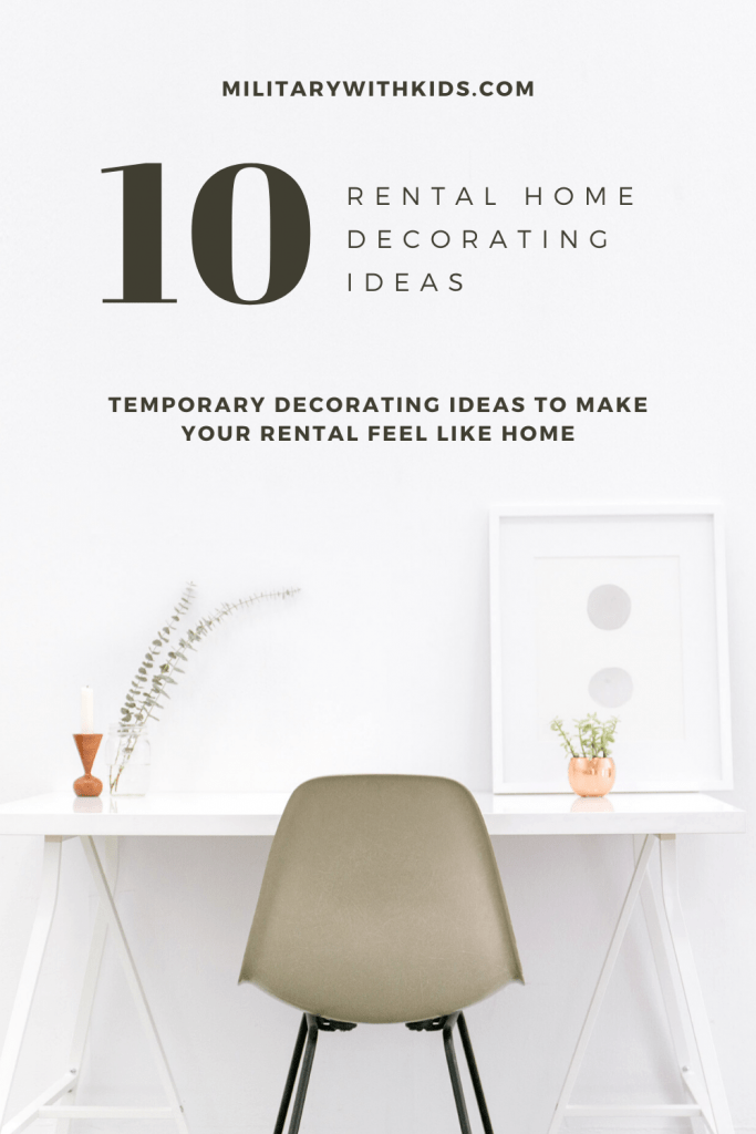 10 rental home decorating ideas