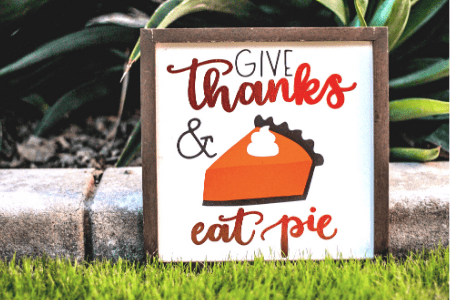 Give thanks and eat pie toddler thanksgiving fun