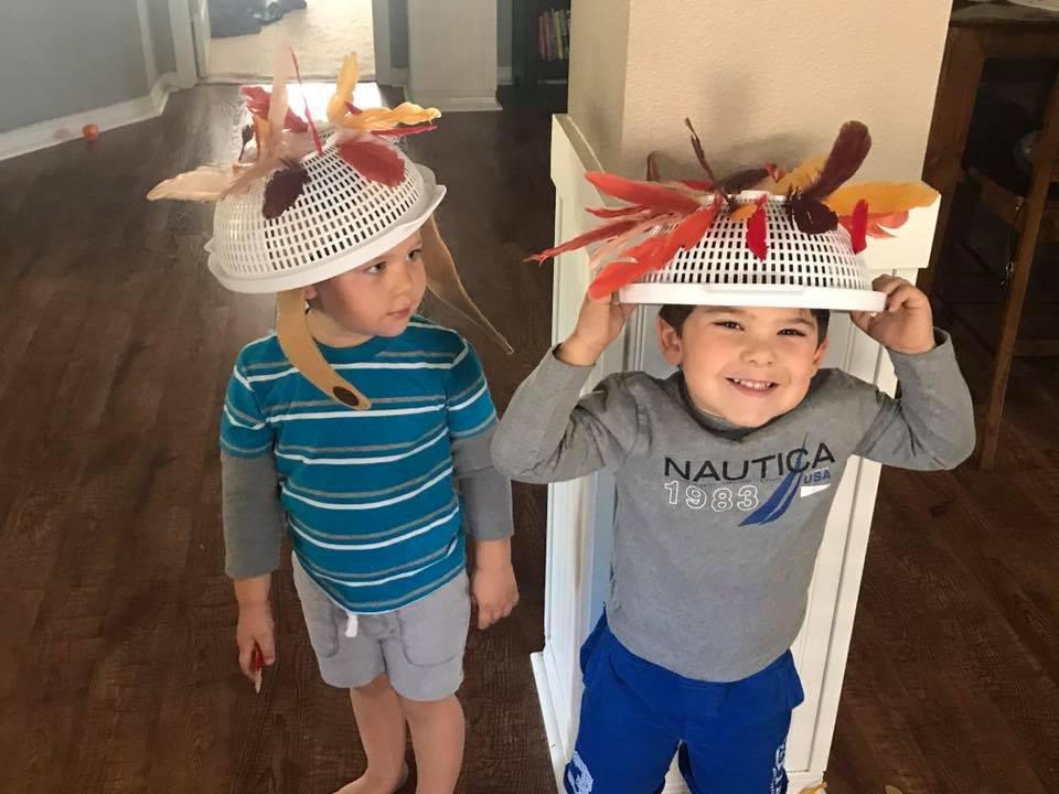 Turkey Hats Fine Motor Activity Toddler