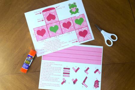 Valentine's Day Craft for kids valentine card printable