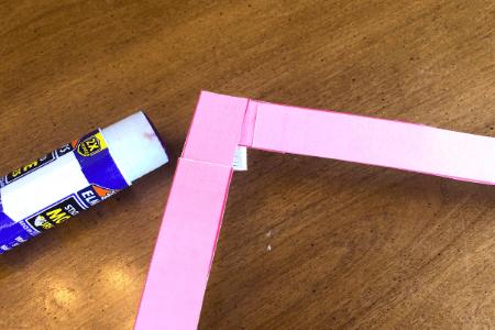 kids make valentine card pop up