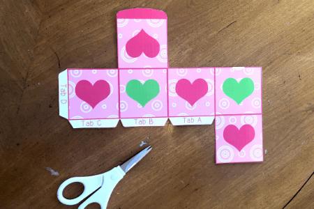 Kid craft valentine day