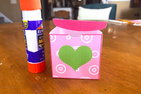 Valentine's Day craft for kids box with heart