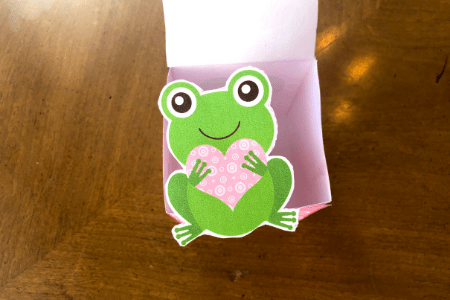 valentine's day kids craft frog heart printable